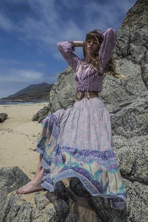 periwinkle Spell Designs blouse - periwinkle Spell Designs skirt