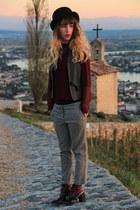 gray maison scotch jacket - ruby red richelieu boots