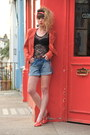 Red-only-jacket-blue-zara-shorts-black-primark-bodysuit