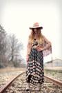 Beige-mjus-boots-black-spell-designs-dress-nude-topshop-hat