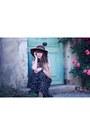Black-molly-bracken-dress-brown-american-apparel-hat