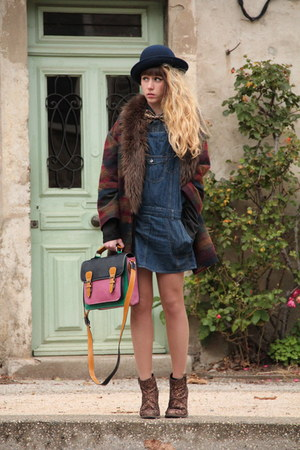 pieces hat - Bertie shoes - Only dress - Urban Outfitters coat