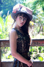 Light-brown-méliné-boots-army-green-byoung-dress-heather-gray-h-m-hat
