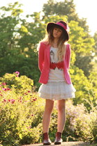 Zara blazer - asos hat - Molly Bracken top - name it skirt - Zara flats