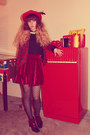 Red-asos-hat-red-only-jacket-black-pieces-tights-ruby-red-chicnova-skirt