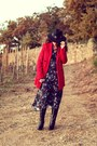 Black-pepe-jeans-boots-navy-free-people-dress-red-maison-scotch-coat