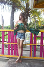 Sky-blue-free-people-shorts-aquamarine-spell-designs-top