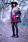 Crimson-vintage-shoes-crimson-urban-outfitters-coat-maroon-zara-hat