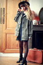Black-robert-clergerie-boots-black-molly-bracken-dress-gray-h-m-hat