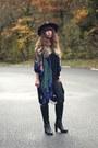 Black-doll-poupée-hat-navy-doll-poupée-jacket-black-reiko-pants