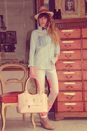 maison scotch hat - we do boots - maison scotch shirt - Les ptites bombes bag