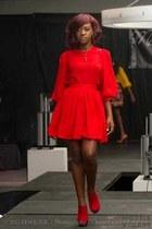 red mangishi love skirt - red mangishi love top - red heels