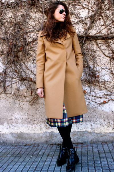 camel Uterque coat - asos skirt