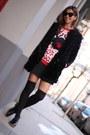 Black-fur-zara-coat-hot-pink-knit-pull-bear-jumper