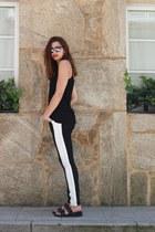 black SANDRO pants - black Mango top