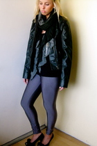 Forever 21 jacket - American Apparel leggings - donni charm scarf