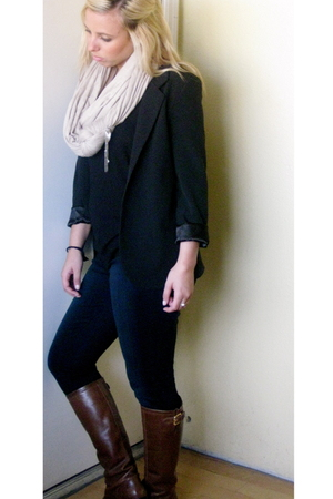 Urban Outfitters blazer - Blank jeans - Ralph Lauren boots - donni charm scarf