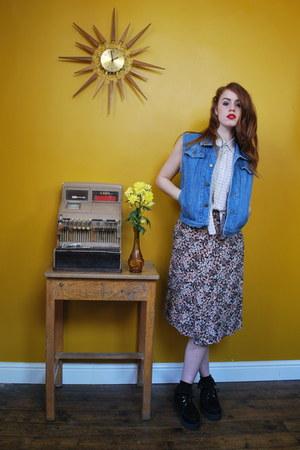 blue denim waistcoat Dorothys Wardrobe jacket - neutral Dorothys Wardrobe shirt