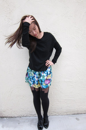 black New York and Company sweater - blue Forever 21 skirt - black Henry Holland