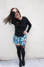 Black-new-york-and-company-sweater-blue-forever-21-skirt-black-henry-holland