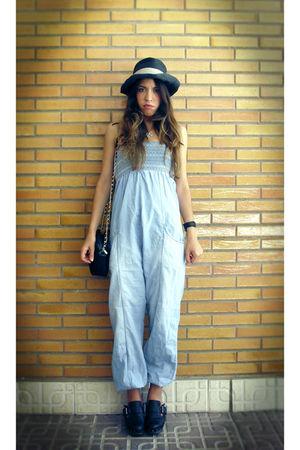 blue BLANCO pants - black Zara shoes
