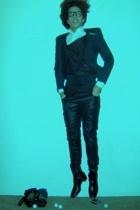 Zara shirt - SN sweater - martin margiela coat - Black Milk pants - YSL shoes