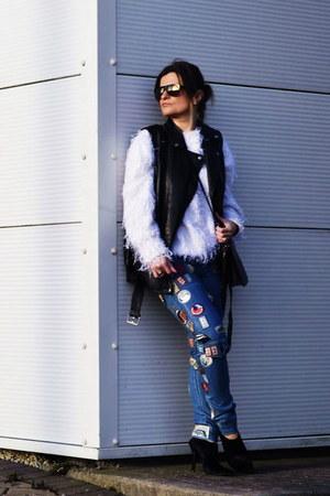 31 Phillip Lim jeans - 31 Phillip Lim bag - Alexander Wang heels - Zara vest