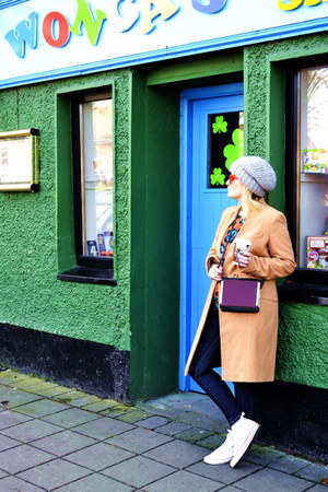 Victorias Secret coat - River Island hat - Zara bag