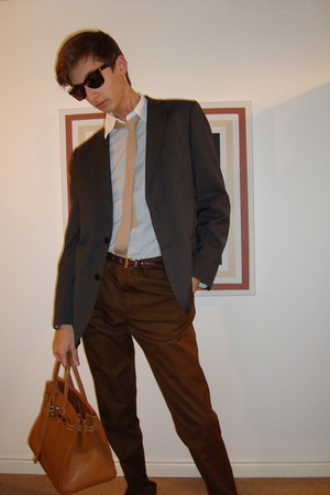 H&M blazer - Gap shirt - Zara pants - Fake Hermes purse - calvin klein belt