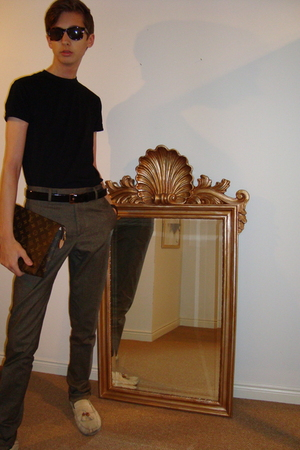 Gap t-shirt - Alexander McQueen pants - Gucci belt - Gucci shoes - Louis Vuitton