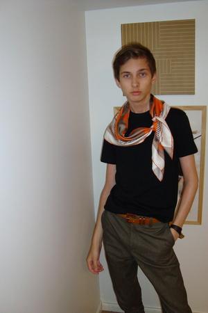 Hermes scarf - vintage belt - Hermes bracelet