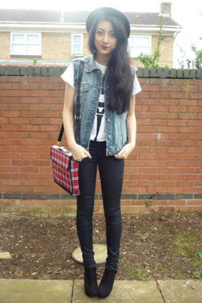 Urban Outfitters bag - H&M hat - DIY jacket