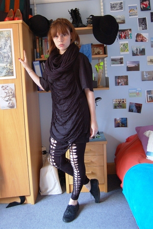 Primark dress - DIY top - DIY leggings - Primark scarf - new look shoes