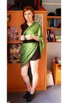 Topshop dress - DIY scarf - Primark belt - Primark boots