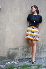 Black-jcrew-t-shirt-white-vintage-necklace-black-diy-belt-orange-diy-skirt