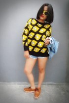 yellow bart simpson unbranded sweater - tawny unknown shoes