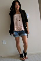 Forever 21 top - Heritage 1981 shorts - Forever 21 sweater - olsenboye shoes - F