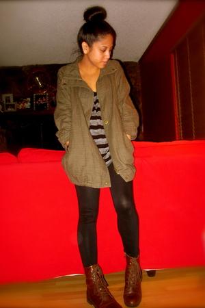 Forever 21 jacket - Tillys top - Forever 21 leggings - Forever 21 shoes