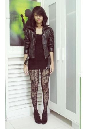 Zara jacket - Forever21 dress - Zara shoes