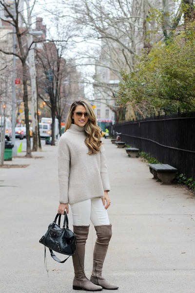 Zara sweater - Via Spiga boots - balenciaga bag - Celine sunglasses