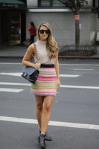 milly skirt - black cut out Circus by Sam Edelman boots - black Chanel bag