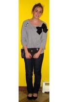 Charlotte Russe jeans - Walmart purse - Forever21 sweatshirt - flats
