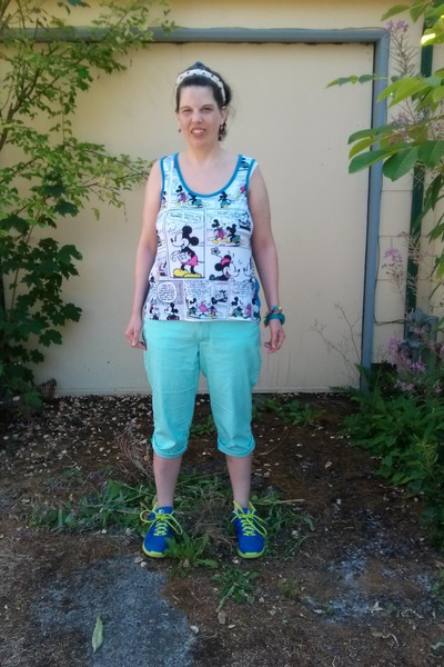 blue Disney top - sky blue Walmart pants - blue Starter sneakers
