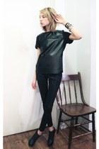 Betsey Johnson leggings - Zara shirt - MINE heels