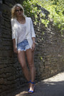 Blue-celine-shoes-blue-zara-shorts