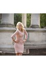 Sequined-peach-reiss-dress-gorgeous-patrieze-pepe-jacket
