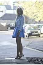 new look jacket - River Island skirt - beige gold vintage Prada heels