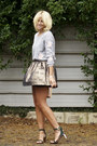 Bronze-metallic-topshop-skirt-neutral-miu-miu-bag