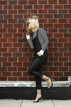 daul floral PM x Jeffrey Campbell shoes - stripes breton top