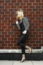 daul floral PM x Jeffrey Campbell shoes - stripes breton top